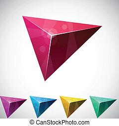 vibrante, pyramid., triangolare