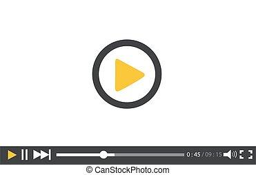 video, web, mobile, giocatore, apps