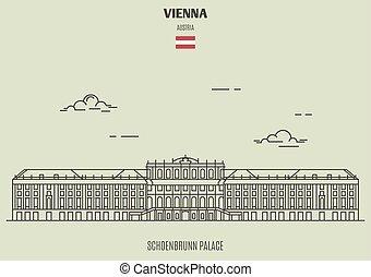 vienna, palazzo, schoenbrunn, punto di riferimento, austria., icona