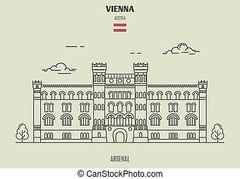 vienna, punto di riferimento, arsenall, icona, austria.