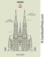vienna, votive, chiesa, punto di riferimento, austria., icona