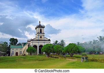 villaggio, filipino, chiesa