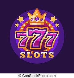 vincere, slot, illustrazione, casinò, fondo, 777, viola