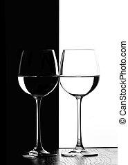 vino, due, occhiali