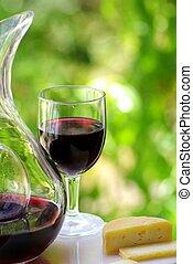 vino rosso, formaggio