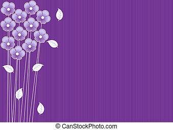 viola, astratto, fiori, fondo