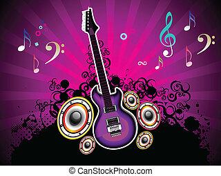 viola, banda, astratto, musicale
