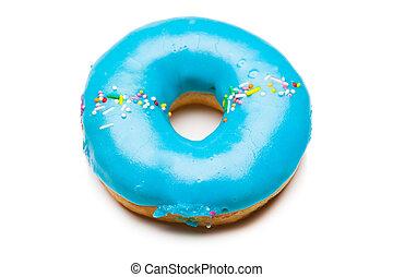 viola, bianco, saporito, isolato, donut
