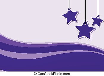 viola, disegno, fondo, stelle