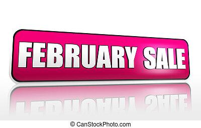 viola, febbraio, bandiera, vendita