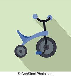 viola, icona, stile, triciclo, appartamento
