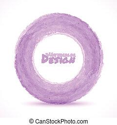 viola, luce, mano, acquarello, disegnato, cerchio
