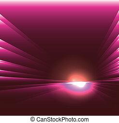 viola, luce, vedere, scoppio