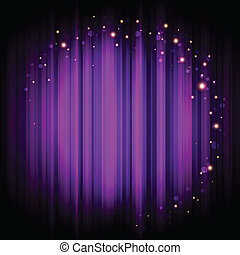 viola, luci, fondo, palcoscenico