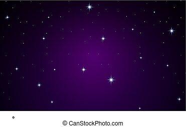 viola, molti, fondo, stelle