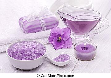 viola, olii, mare, terme, violet., sale, essenziale