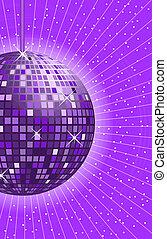 viola, palla, discoteca