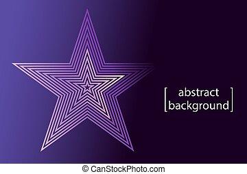 viola, pendenza, stella rosa, simbolo, fondo