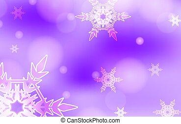 viola, sagoma, cielo, disegno, fiocchi neve, fondo