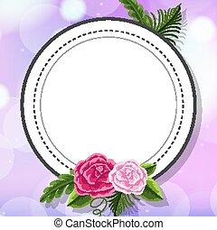 viola, sagoma, cornice, disegno, fiore, fondo
