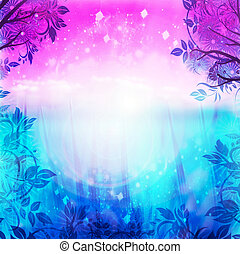 viola, sfondo blu, primavera
