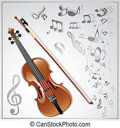 violin., musicale, fondo