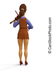 violinista, illustrazione