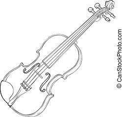 violino, disegno