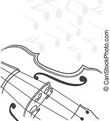 violino, fondo