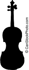 violino, silhouette