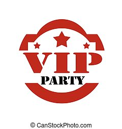 vip, party-stamp