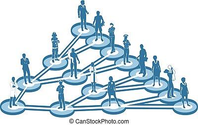 virale, concetto, marketing, affari