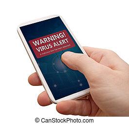 virus, smartphone, allarme