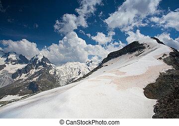vista, corvatsch, piz, montagna