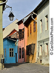 vista, transylvania, medievale, sighisoara, strada