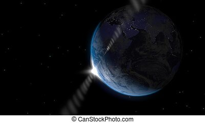 visto, alba, luna