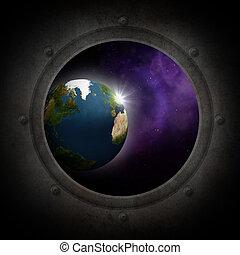 visto, terra, spazio