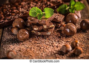 vita, ancora, pezzi cioccolata