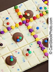 vita, ancora, smarties, cioccolato bianco