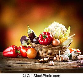 vita, arte, verdura, sano, organico, disegno, ancora