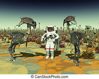 vita, astronauta, extraterrestre