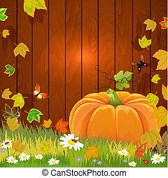 vita, autunno, disegno, ancora, tuo, zucca