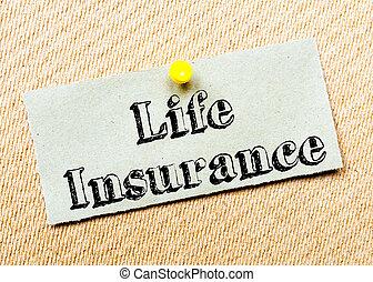 vita, messaggio, assicurazione