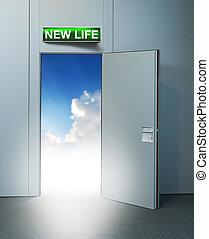 vita nuova, cielo, porta