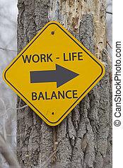 vita, questo, lavoro, segno, modo, equilibrio