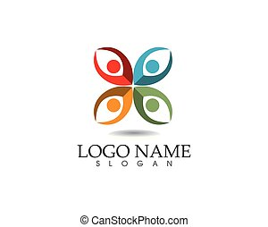vita, successo, icone, persone, comunità, salute, sagoma, logotipo, cura