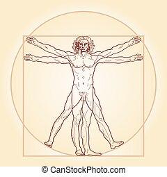 vitruvian, (homo, uomo, vitruviano)