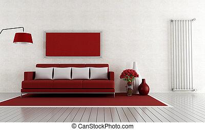 vivente, stanza bianca, rosso