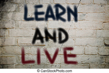 vivere, concetto, imparare