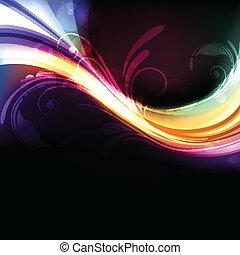 vivido, astratto, colorito, luminoso, vettore, fondo